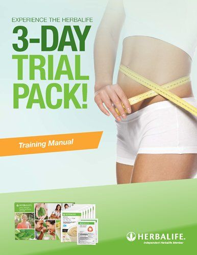 3-Day Trial Pack Training Manual Herbalife Pinterest - training manual