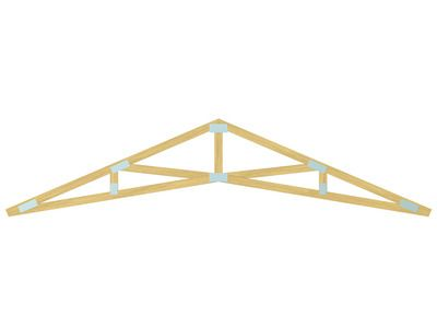 Marvelous Beams · Scissor Trusses Give Vaulted Or Cathedral Ceiling