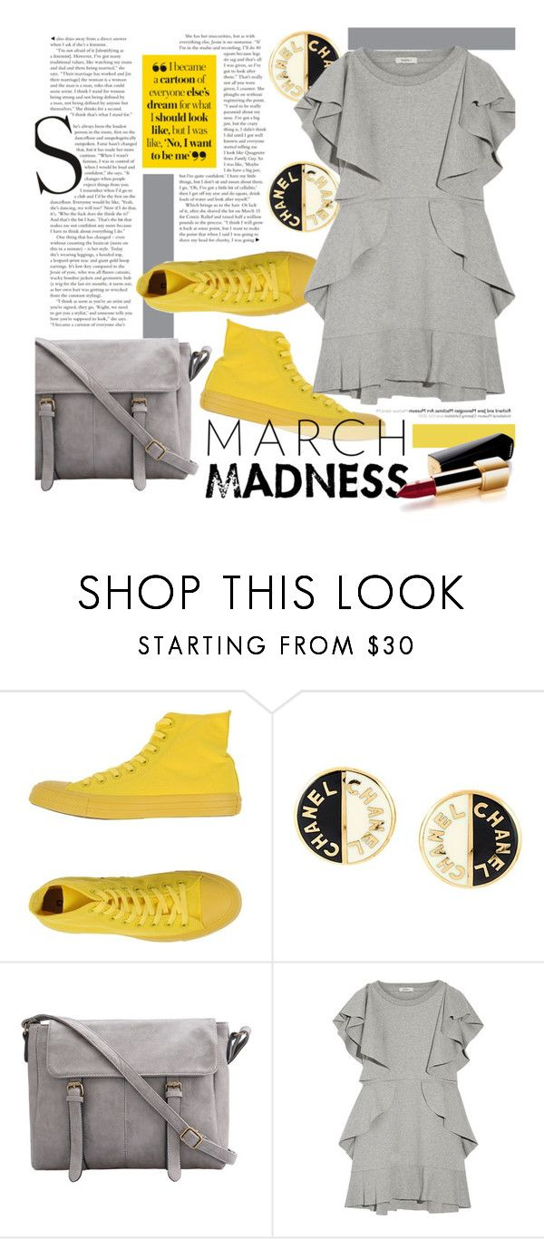 """""""On top"""" by clovers-mind ❤ liked on Polyvore featuring Converse, Chanel, Goen.J and hightops"""