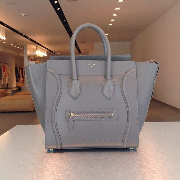celine bag gray yslk  grey celine luggage tote nano