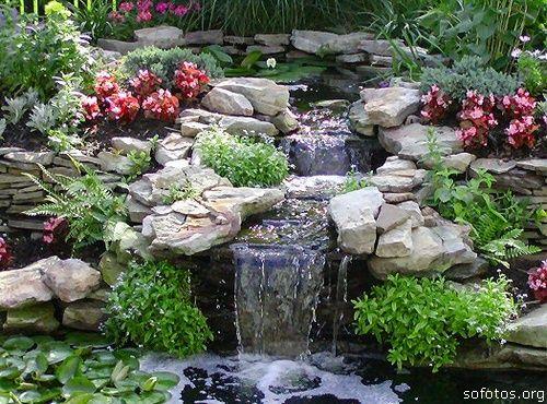Paisagismo e jardinagem cachoeira artificial paisagismo - estanques artificiales