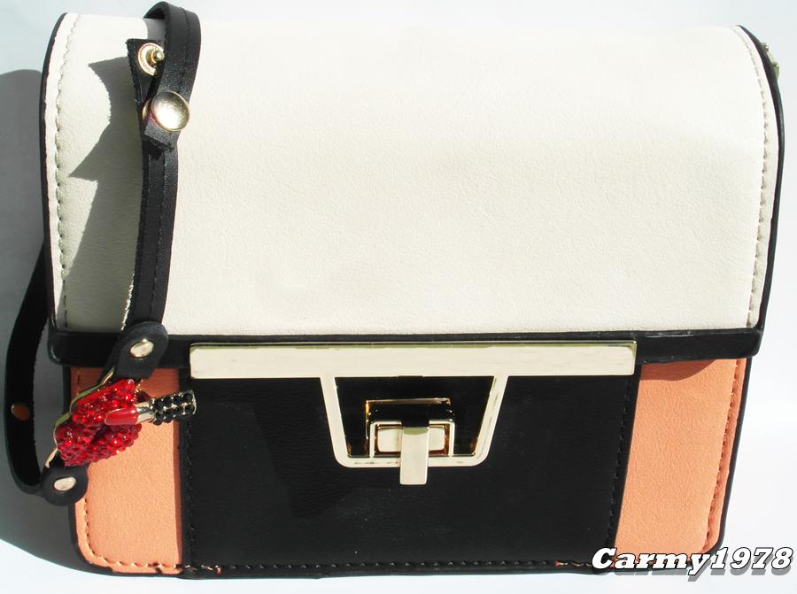 black, white, orange bag @blackfive