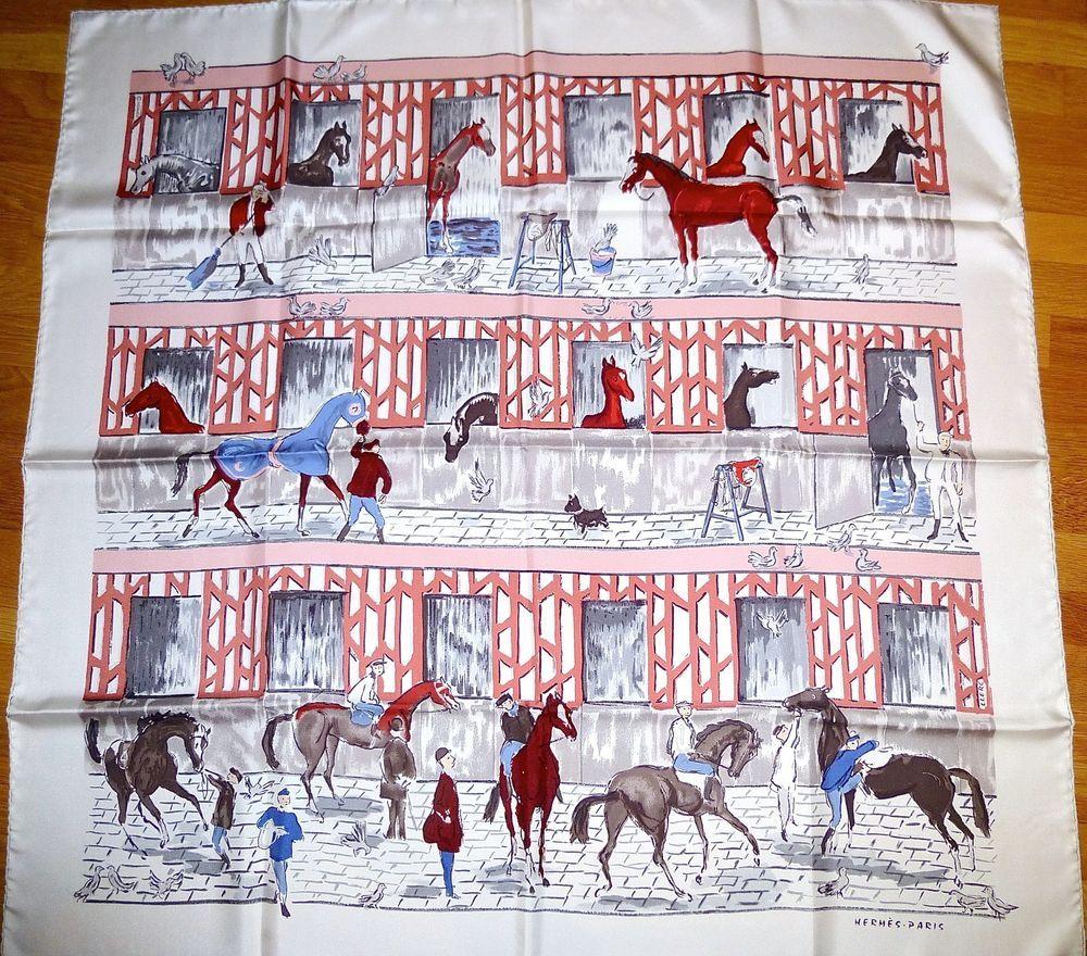 3c19acfe058e Hermes Les Boxes Horses Silk Scarf   my style   Pinterest   Silk ...
