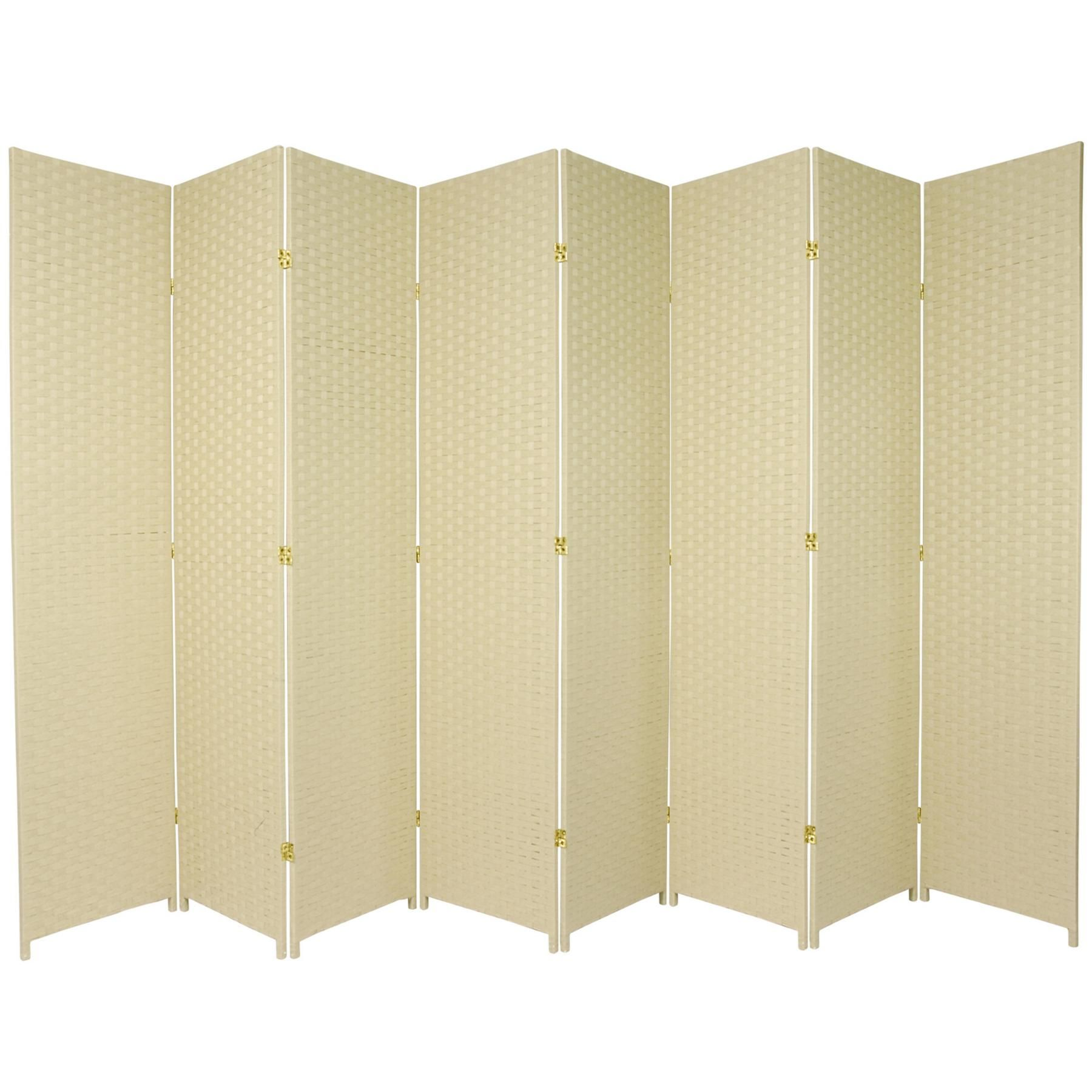 7 Ft Tall Woven Fiber Room Divider Room Divider Oriental Furniture Panel Room Divider
