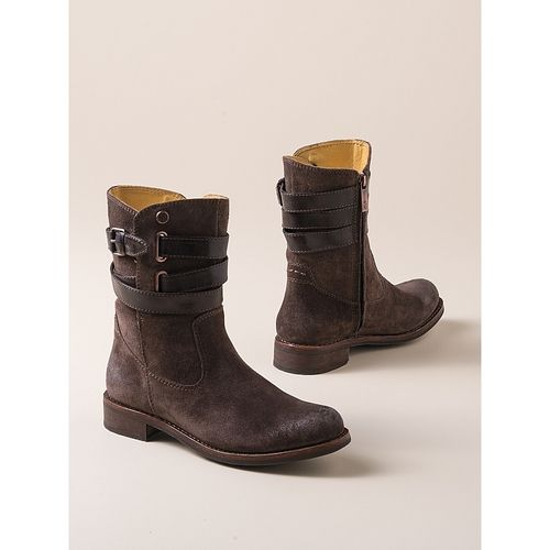 Women's Strappy Ankle Boots in  from Sahalie on shop.CatalogSpree.com, your personal digital mall.