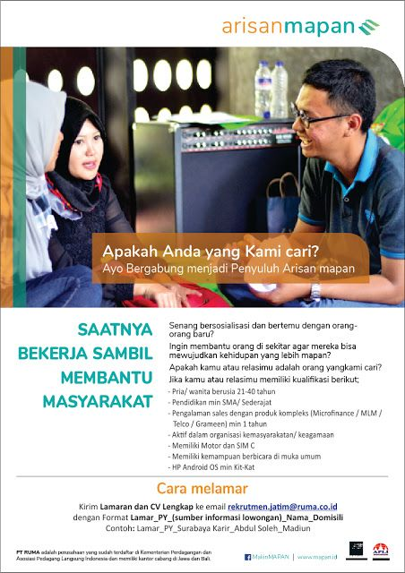 Lowongan Kerja Penyuluh Di Arisan Mapan Surabaya Marketing Surabaya Hidup