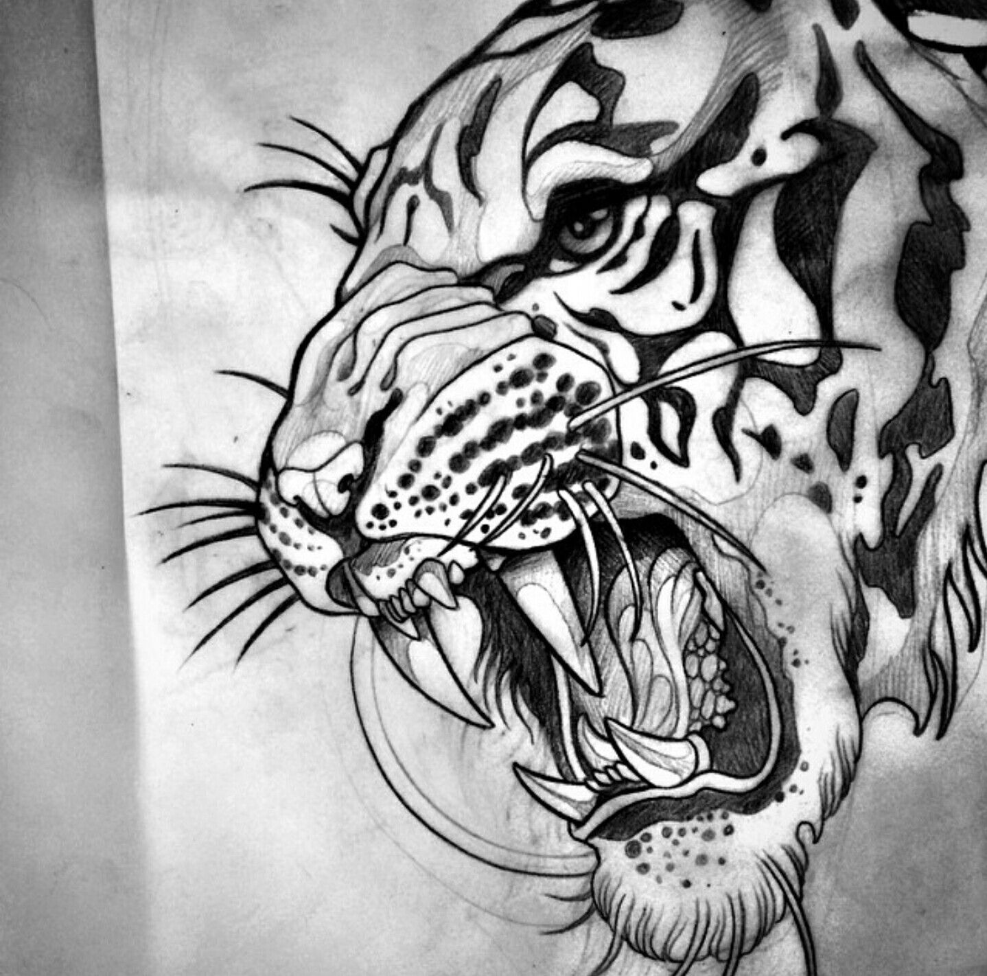 Sam Clark | Tiger tattoo, Tiger head tattoo, Tiger art
