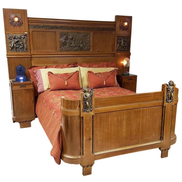 1stdibs 1920s Bedroom Suite Bedroom Set Italian Art Deco Mother Of Pearl Fruitwood Art Deco Bedroom Furniture Art Deco Bedroom Bedroom Sets For Sale
