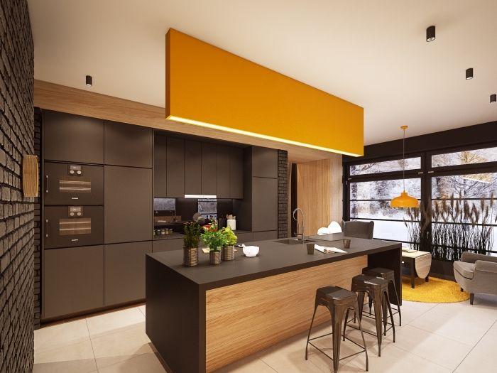 ▷ 1001 + variantes de la cuisine avec îlot central moderne et - Cuisine Moderne Avec Ilot