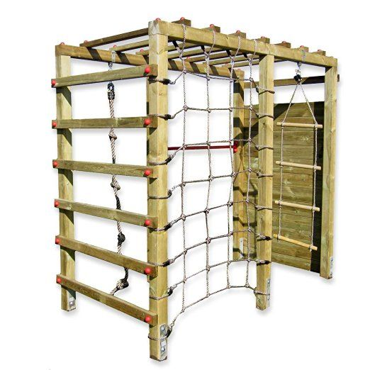 Gartenpirat Klettergerüst Premium mit Kletterwand Spielgerüst aus Holz für den…