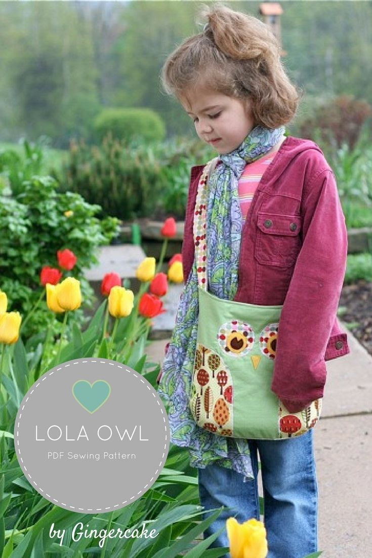 DIY Owl Bag made from Lola Owl pattern. The bag instructions are ...