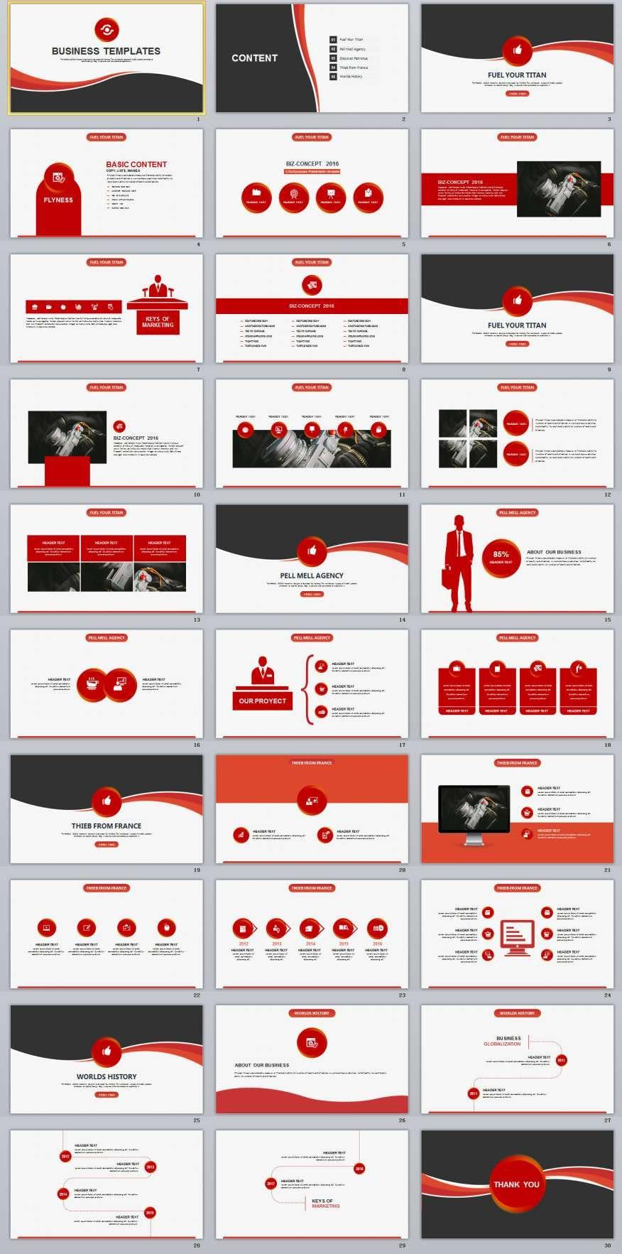 30 red business report powerpoint template template business and 30 red business report powerpoint template toneelgroepblik Choice Image