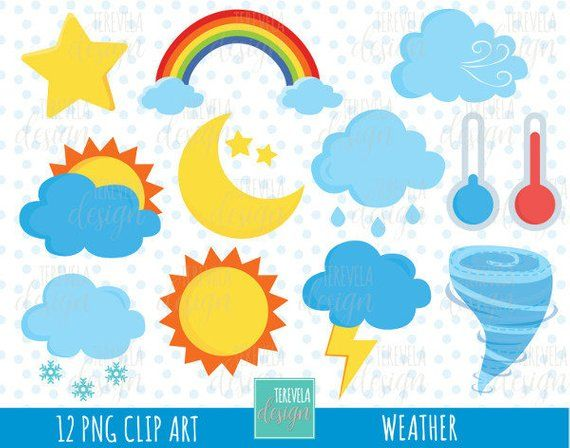 Sun weather. Sale clipart icons