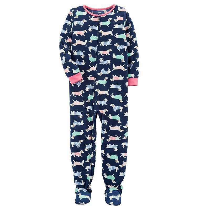 9cf322df8 Girls 4-14 Carter s Patterned Fleece Footed Pajamas