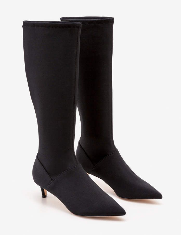 Kitten Heel Stretch Boots