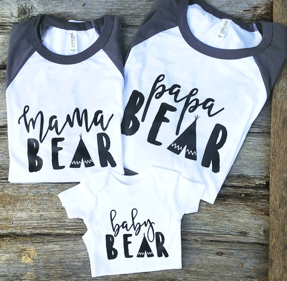 08c823e7 Mama Bear Graphic Tees | Family Bear Shirts | Mama Bear Shirt | Papa ...
