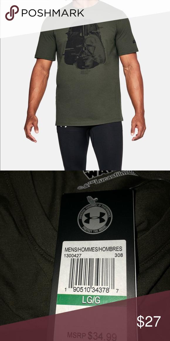 barricada Subproducto incompleto  Under Armour Star Wars Darth Vader Shirt Green NWT | Star wars shirts, Darth  vader shirt, Clothes design