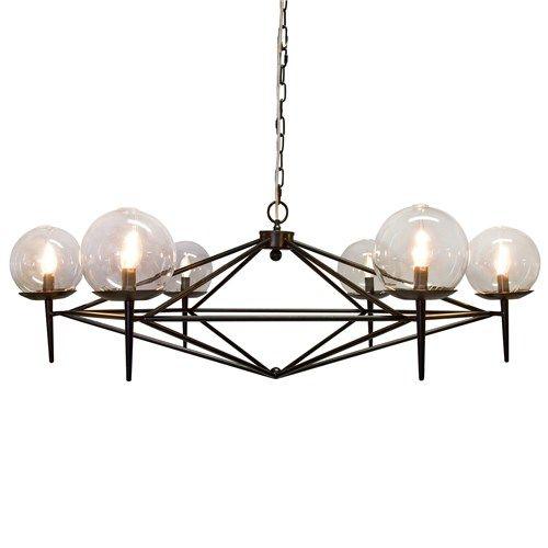 Sharp and masculine black chandelier.   #fifthwallfriday #ceilume #ceiling #interior #design #diy #study