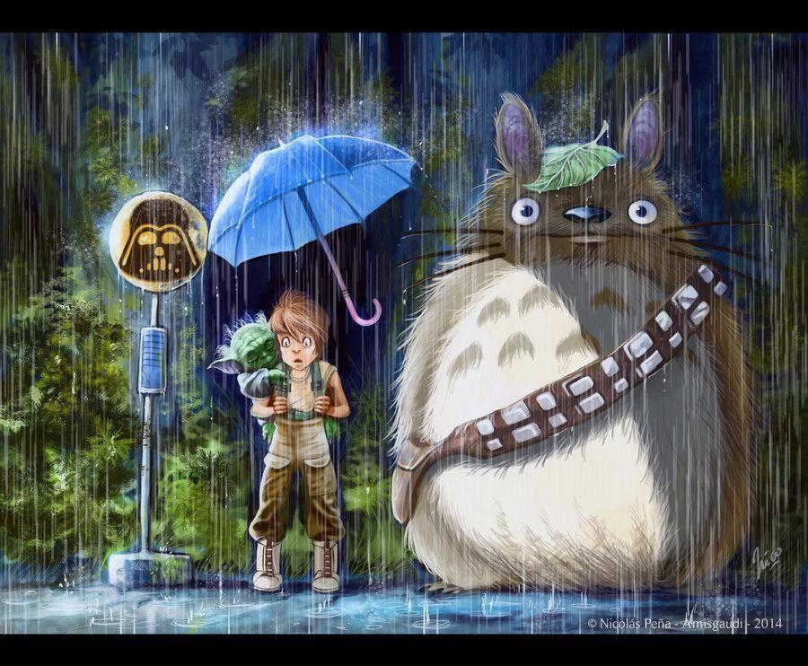 Alvaro Lopez Martin On Totoro Star Wars Fan Art My Neighbor