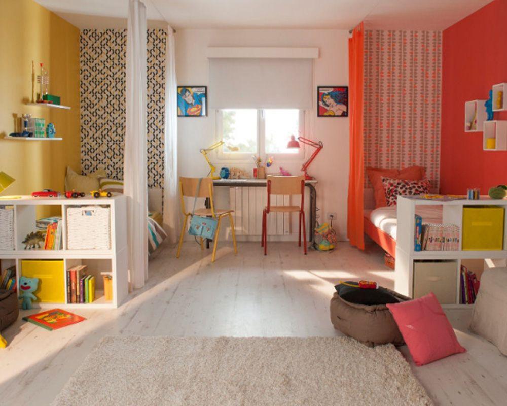 Des rideaux pour séparer la chambre   Chambres enfant en 2019   Room ...
