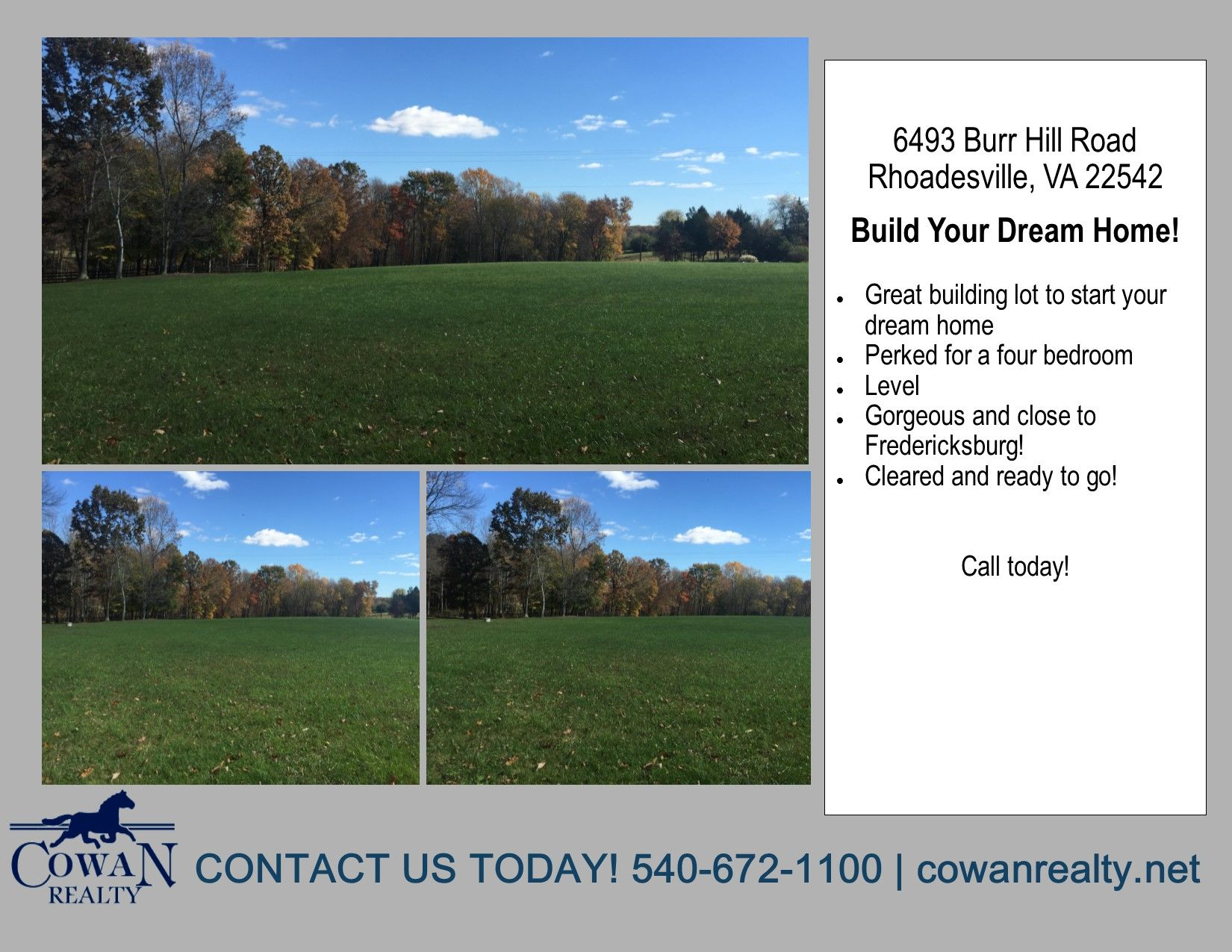 Beautiful Lot Perked For A Four Bedroom Level Planted In Grass