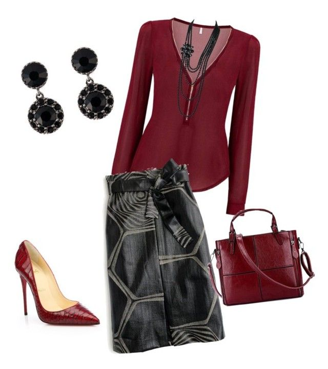 Polyvore featuring Christian Louboutin, J.Crew, Givenchy and Chanel