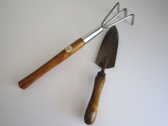 Vintage Garden Tools by 20thCenturyGoods on Etsy