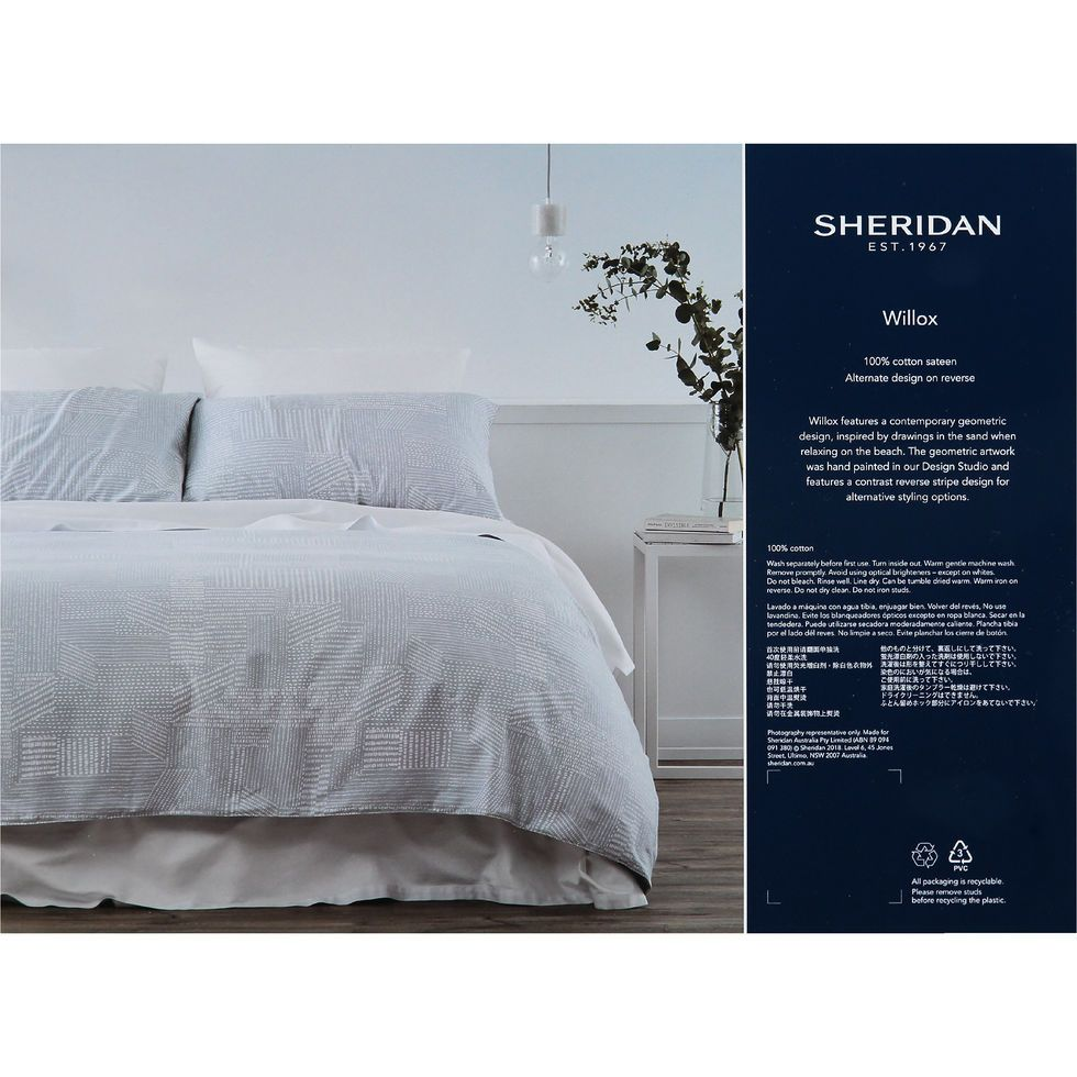 Super King Blue White Willox Duvet Set 260x220cm Bedding Sets