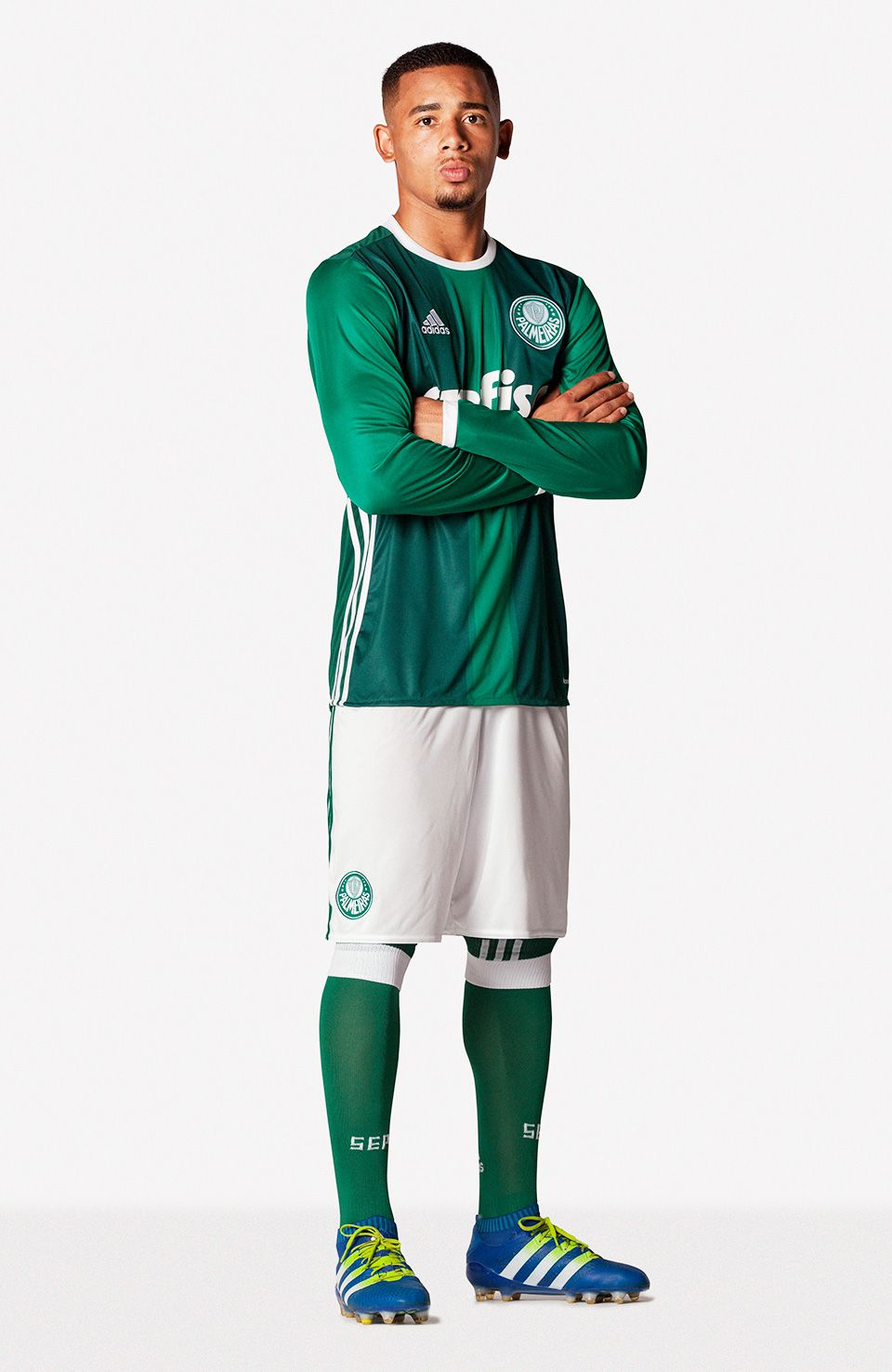 2bc715f515fd3 Gabriel Jesus Nova Camisa Palmeiras 03 05 2016