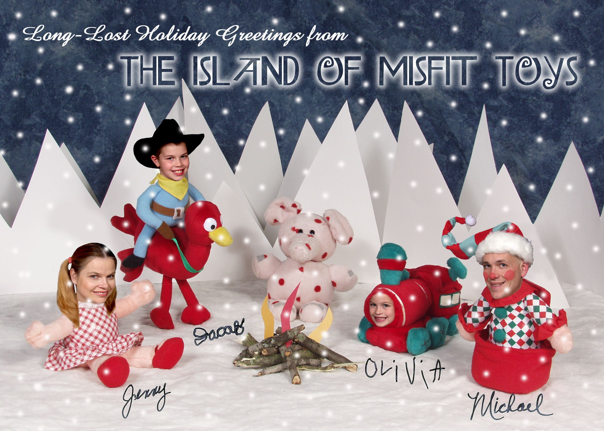 2006 The Island Of Misfit Toys Stout Family Christmas Cards