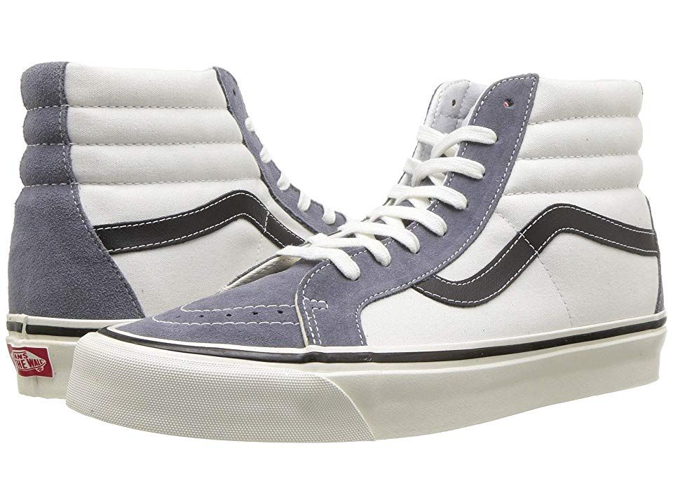 f53c2872a6 Vans UA Sk8-Hi 38 DX ((Anaheim Factory) OG Dark Grey OG White) Athletic  Shoes. Keep it old school every step of the way with the classic Vans SK8-Hi  38 DX ...