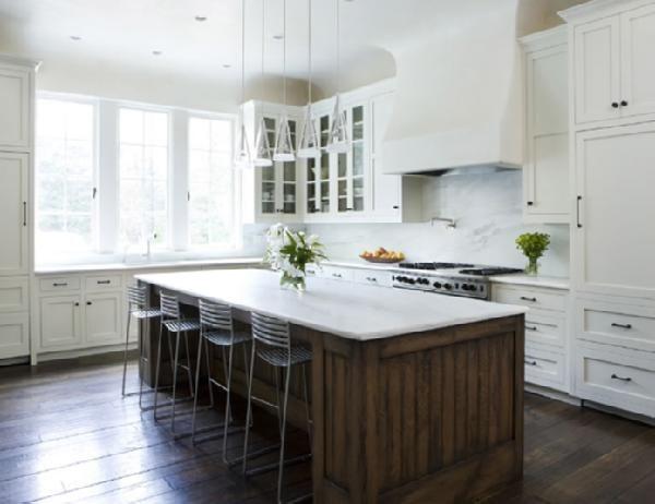White Kitchen Dark Island Kitchen Inspirations Brown Kitchens Glass Fronted Kitchen Cabinets