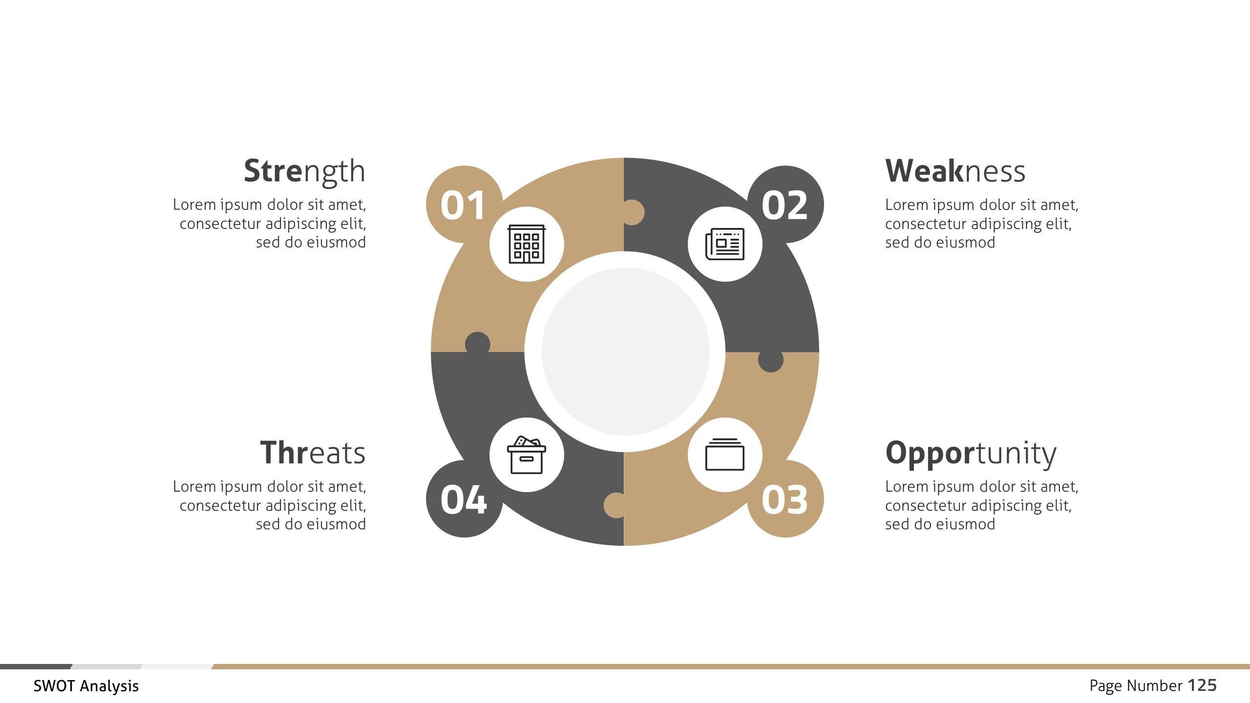 Swot Analysis Business Infographic Google Slides