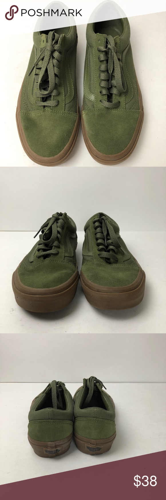 e48b52d8b0 Army Green Vans women s size 9 Men s 7.5 In excellent pre owned condition  almost new! Only worn once! Women s size 9. Men s size 7.5. Vans Shoes  Sneakers