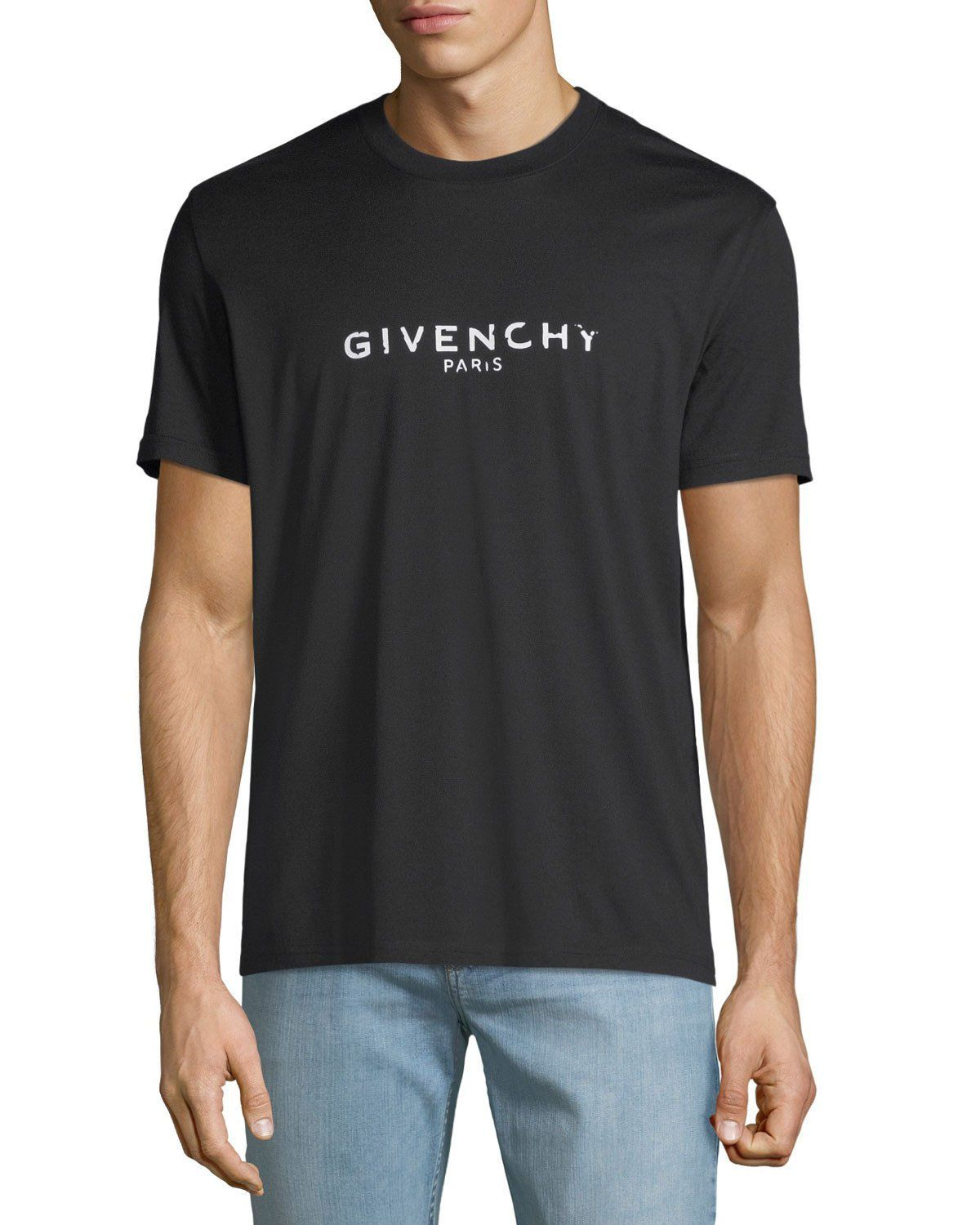 1f6d9f9d Givenchy Men's Destroyed Logo Graphic T-Shirt | T-shirts | Givenchy ...
