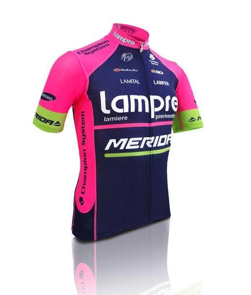 Redesigned  standard  Lampre-Merida team jersey  1ba54b52d