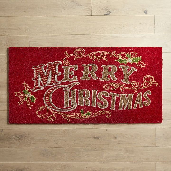 pier 1 living room rugs%0A Pier   Imports Merry Christmas Doormat
