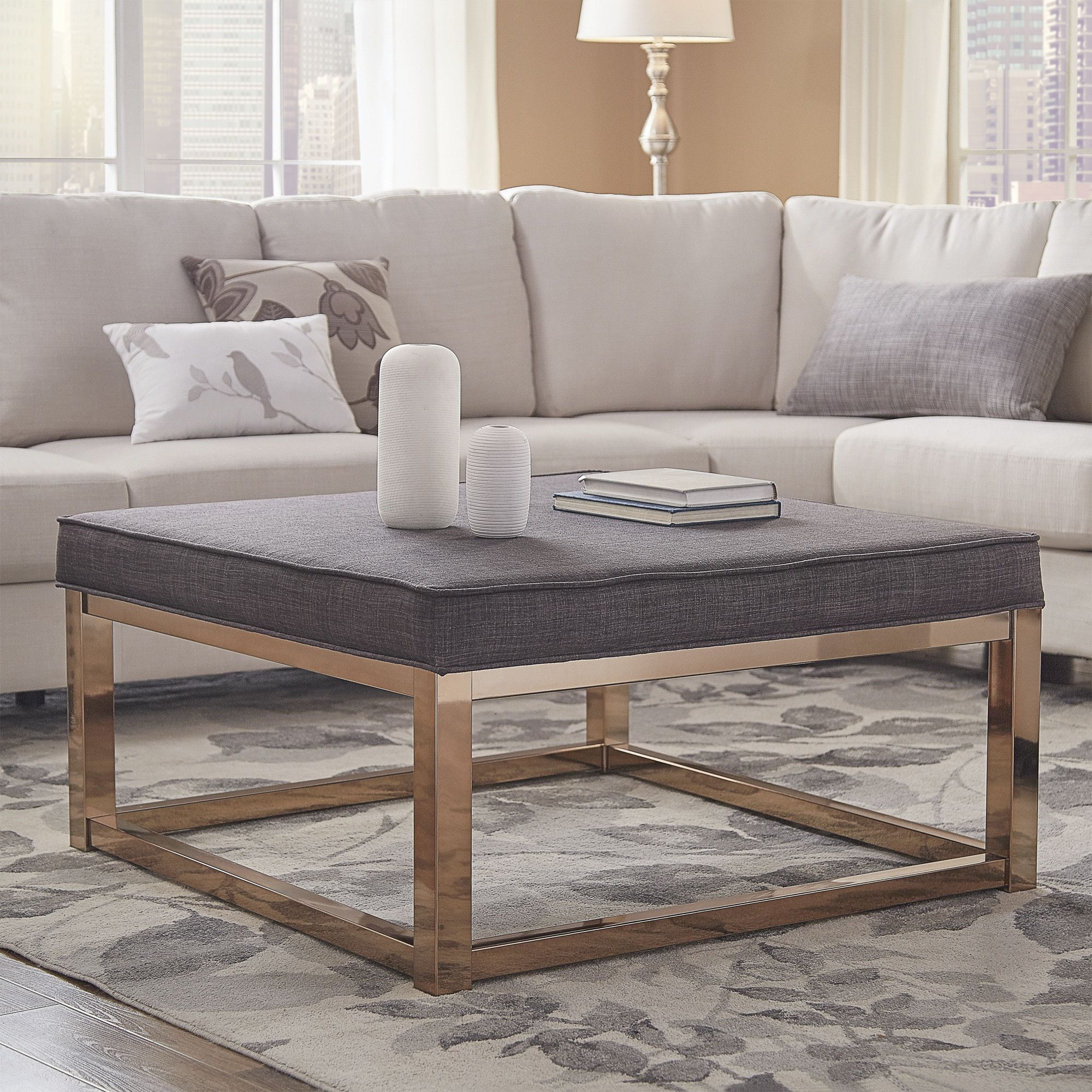 40++ Upholstered ottoman coffee table leather ideas