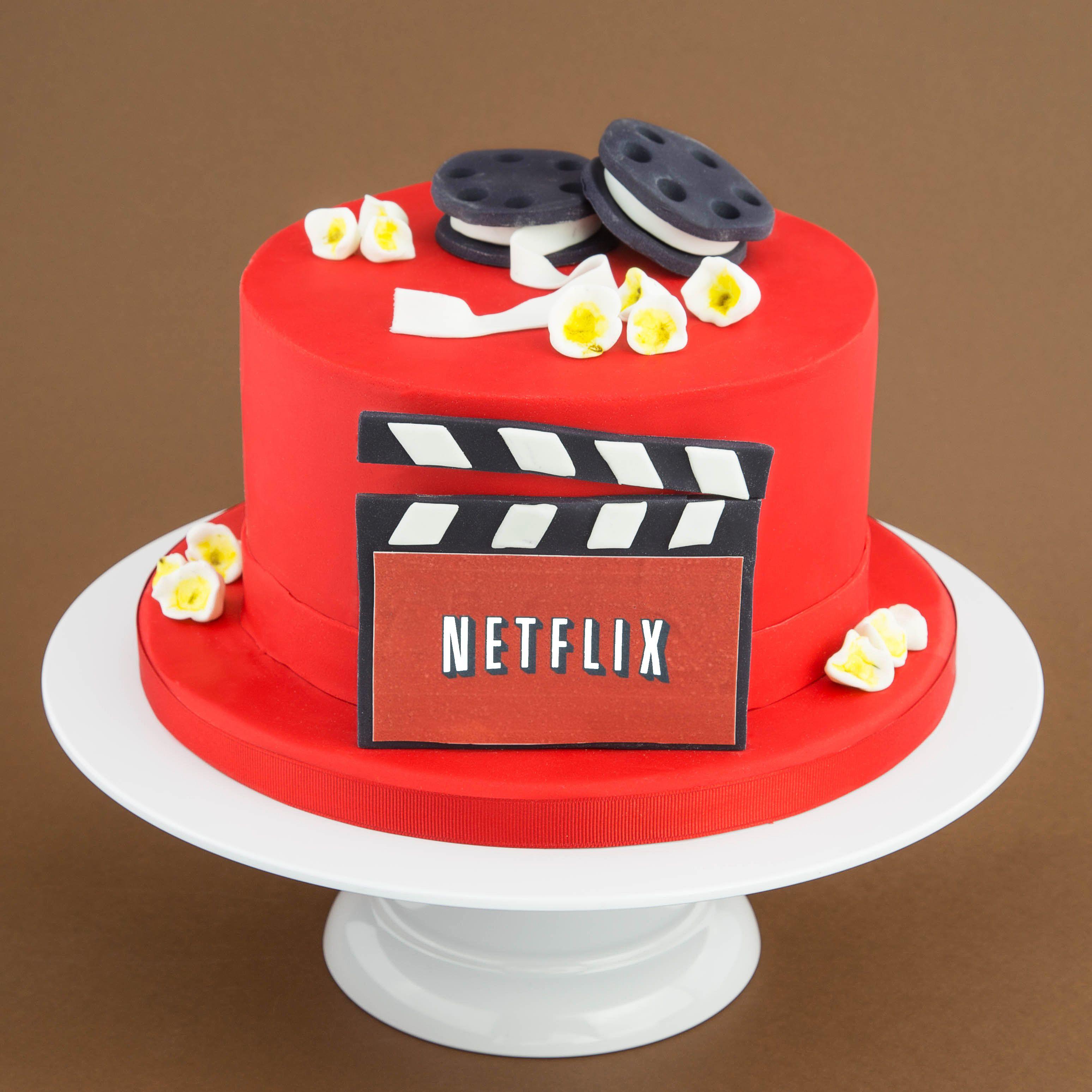 Netflix Cake Idea Fondant Icing Birthday