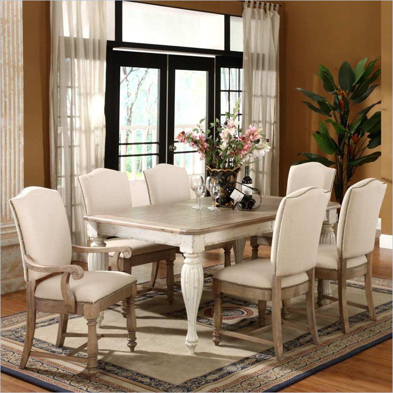 Riverside Furniture Coventry Two Tone Dining Table In Weathered  Driftwood/Dover White   32550   Lowest Price Online On All Riverside  Furniture Coventry Two ...