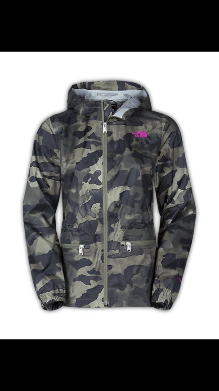 110b4cfa14 North Face | Clothes | Rain jacket, Camo jacket women, Jackets