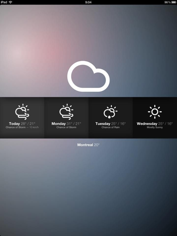 the best designed weather app for iPhone & iPad. the best