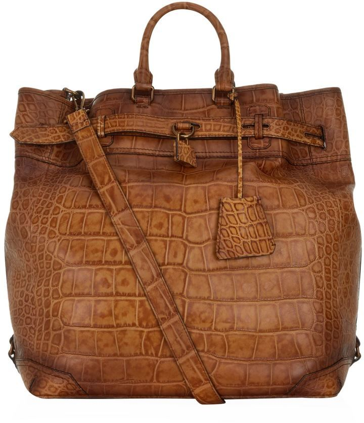 c544c01af097 Burberry Alligator Travel Bag