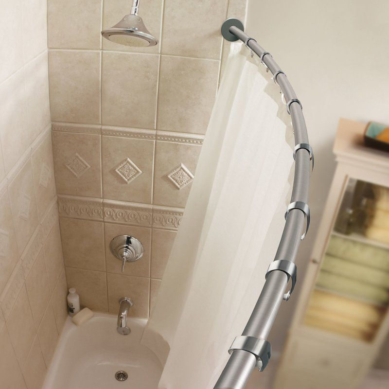 58 44 Curved Fixed Shower Curtain Rod Shower Remodel Shower Curtain Rods Shower Rod