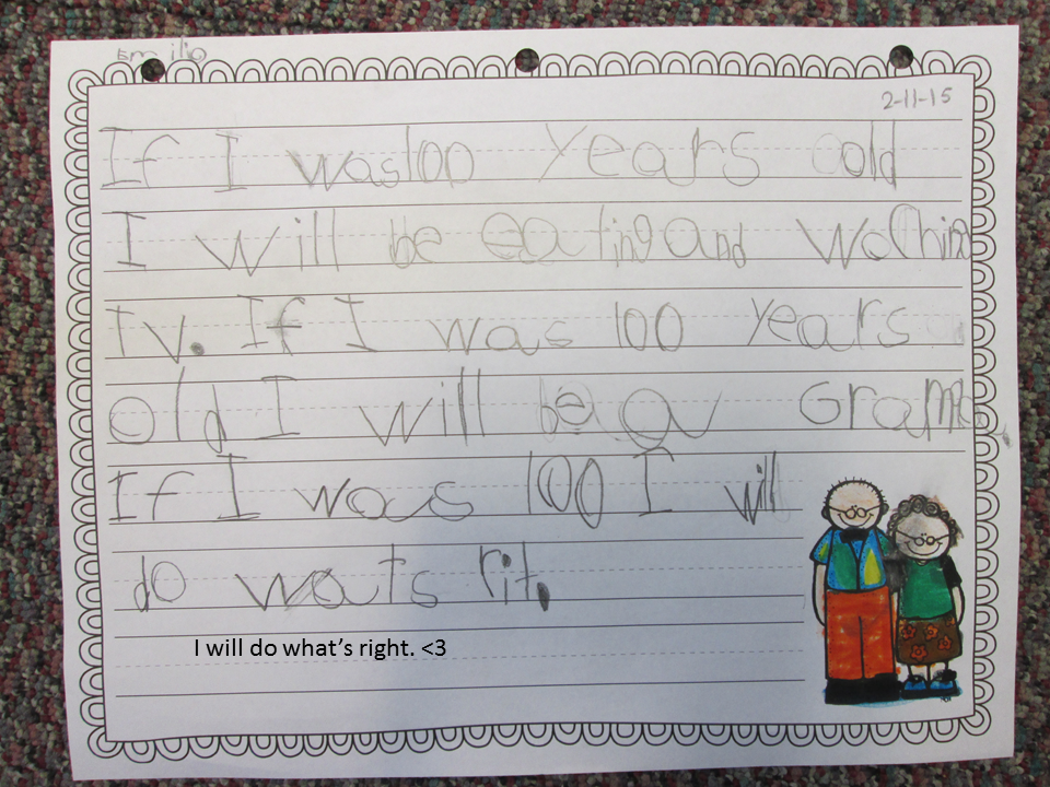 If I Was 100 Years Old Writing Freebie 100th Day The 100 100 Days Of School
