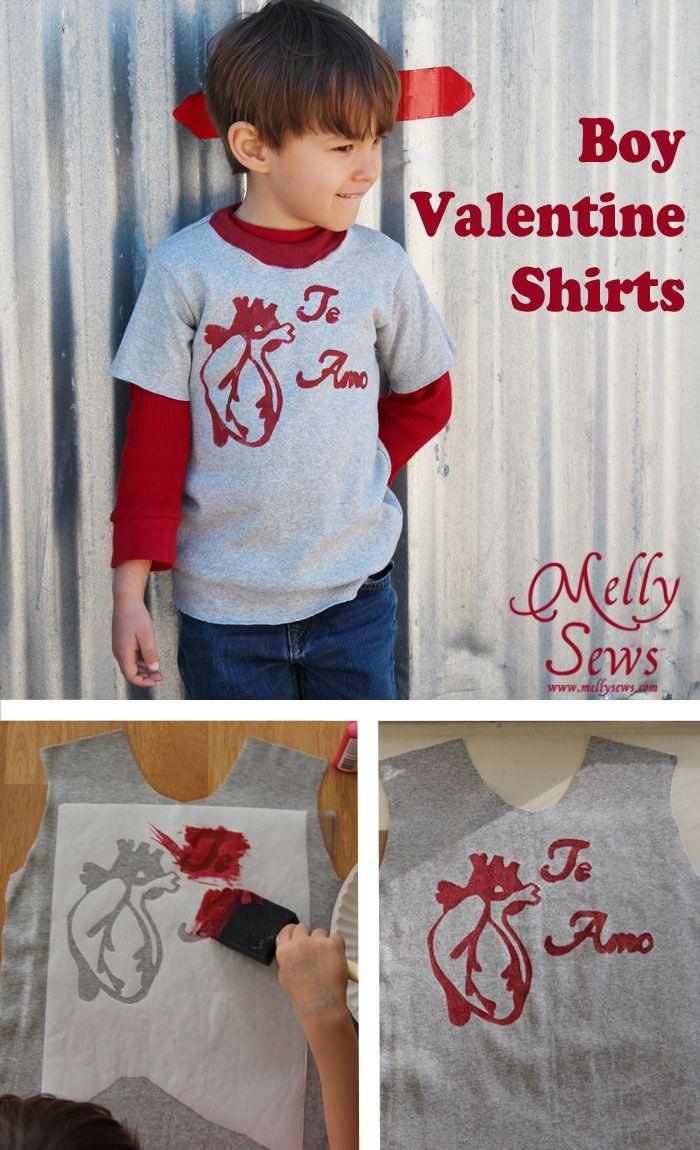 boy valentine shirt tutorial and printable shirt tutorial stenciling and tutorials