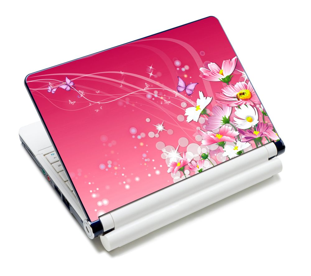 Pink color is the favourite color for most of the girls. Laptop skin with  butterfly