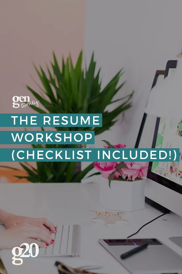 the resume workshop with a free checklist english language