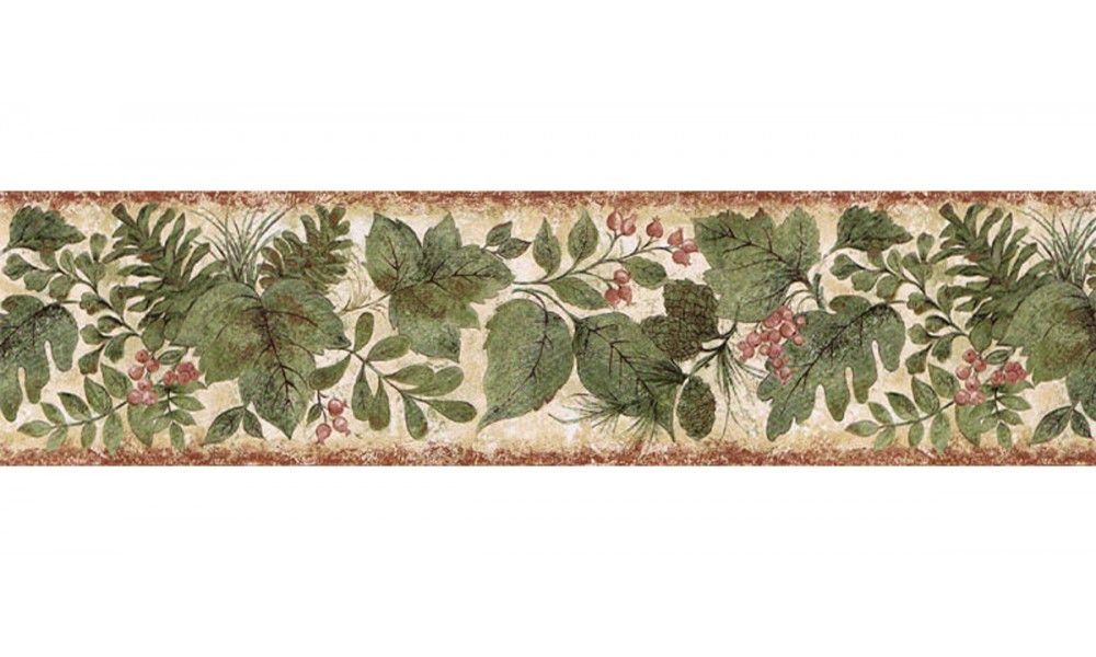 6 7 8 In X 15 Ft Prepasted Wallpaper Borders Leafs Wall Paper Border Sd25022b Floral Wallpaper Border Wallpaper Border Wallpaper Border Kitchen