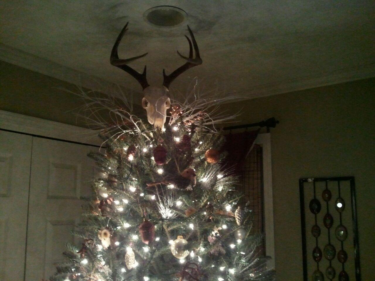 Antler Christmas Tree, Christmas Tree Toppers, Christmas Tree